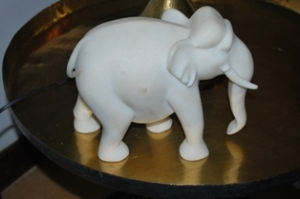 an elephant in marble
