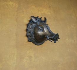 brass wild boar