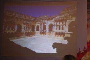 The story of HAMPI being told through slides