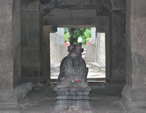 Nandi in circular temple