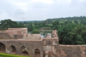 The Roopmati Pavillion is supposed to be at a high point from where the river Narmada can be seen.
