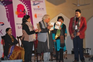 Book launch at the JLF
