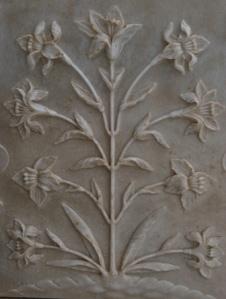 flowers in marble