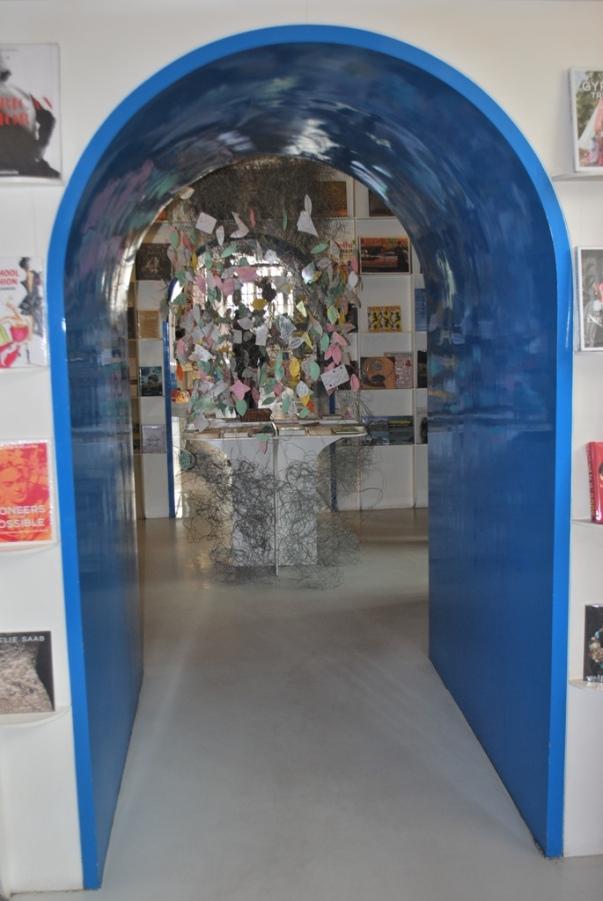Blue archways