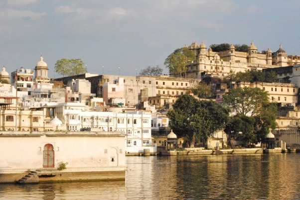 Lake Pichola and Mango trees