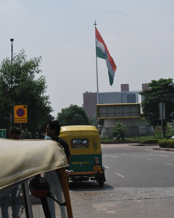 A mammoth Indian flag at the epicentre of Connaught Place