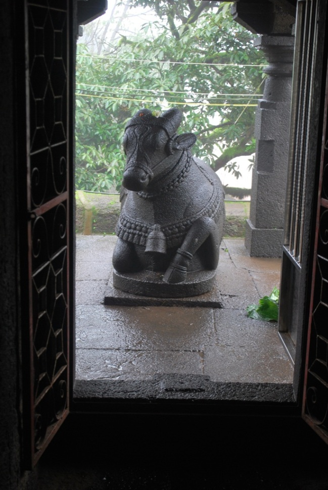 The Nandi from inside the Atibaleshwar temple