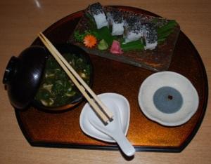 miso soup plus sushi