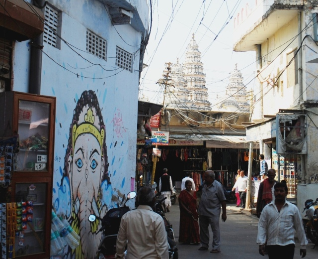 street with ganeshaji