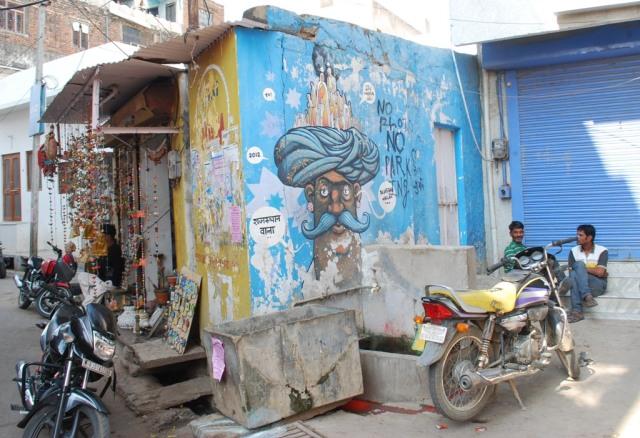 street with turban man
