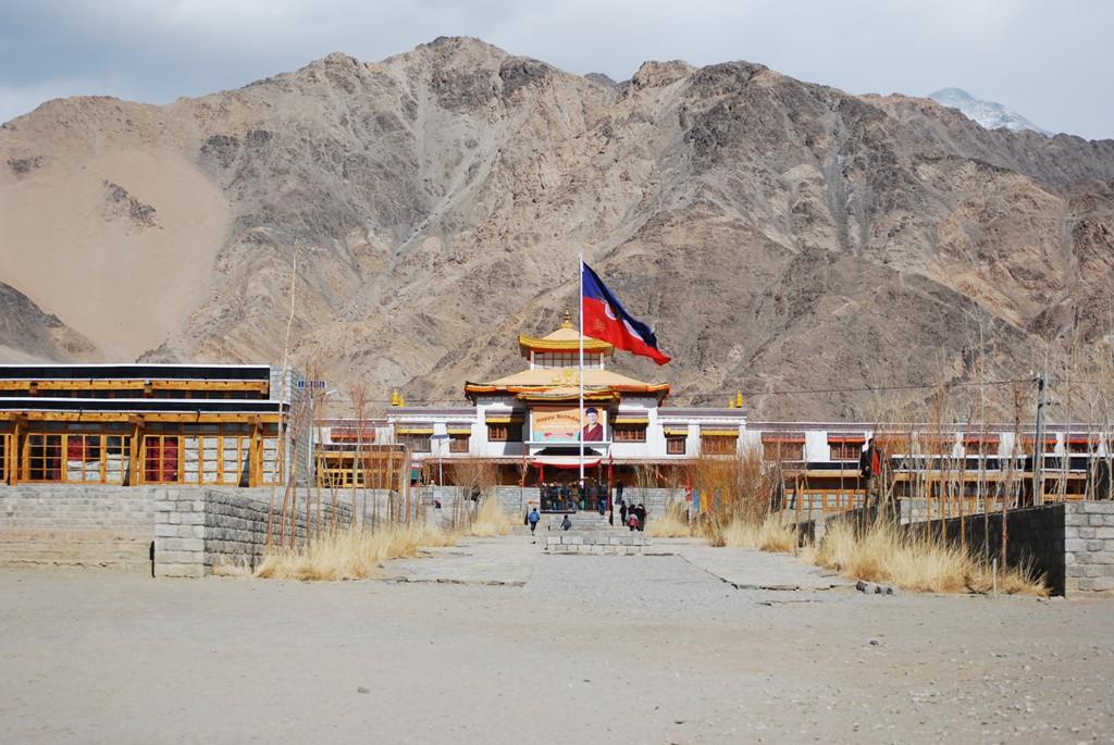 temple overlooks the school