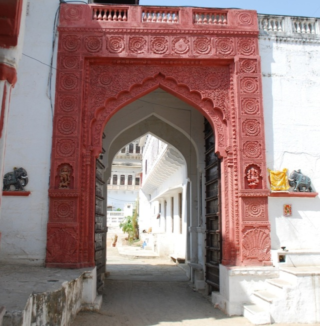 to the main courtyard